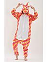 Взрослые Пижамы кигуруми Unicorn Аниме Цельные пижамы полиэфирное волокно Цвет радуги Косплей Для Муж. и жен. Нижнее и ночное белье животных Мультфильм Фестиваль / праздник костюмы