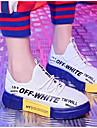 نسائي شبكة ربيع & الصيف أحذية رياضية الركض كعب مسطخ أبيض / أسود / أحمر / أسود وأصفر.