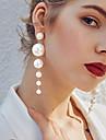 Per donna Bianco Perla d\acqua dolce Perline Orecchini a goccia Perla Orecchini Donne Alla moda Elegante Gioielli Bianco Per Matrimonio Compleanno Evento Mascherata Festa per la promessa di / 1 paio