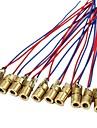10 x mini laserdioddiodmodulhuvud wl röd 650nm 6mm 5v 5mw pack med 10