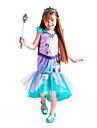 The Little Mermaid Aqua Princess Disfrace de Cosplay Chica Ninos Activo Halloween Navidad Halloween Carnaval Festival / Celebracion Tul Algodon Accesorios Verde Sirena