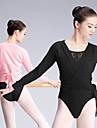 رقص الباليه كنزات نسائي التدريب / أداء Elastane / ليكرا ربطة و حلقة كم طويل بلايز