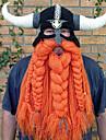 قرصان الفايكينج قبعات رجالي نسائي Film Cosplay برتقالي قبعة Halloween مهرجان حفلة تنكرية قطن