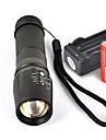 UltraFire W-878 LED zseblámpák LED Cree® XM-L T6 1 Sugárzók 1800 lm 5 világítás mód akkukkal és töltővel Csúszásgátló markolat Kempingezés / Túrázás / Barlangászat Mindennapokra Kerékpározás Fekete