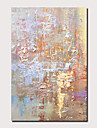 Hang-ζωγραφισμένα ελαιογραφία Ζωγραφισμένα στο χέρι - Αφηρημένο Τοπίο Σύγχρονο Μοντέρνα Περιλαμβάνει εσωτερικό πλαίσιο