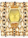 Geneva Women\'s Bracelet Watch Wrist Watch Gold Watch Quartz Stainless Steel Gold 30 m Cute New Design Casual Watch Analog Fashion Elegant - White Black Pink One Year Battery Life