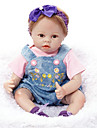 FeelWind Reborn Doll Girl Doll Baby Girl 22 inch Silicone Vinyl - lifelike Handmade Cute Kids / Teen Non-toxic Kid\'s Unisex Toy Gift