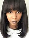 Ihmisen hiukset Capless Peruukit Aidot hiukset Luonnollinen suora Bob-leikkaus Muodikas malli / kuuma Myynti / Mukava Musta Keskikokoinen Suojuksettomat Peruukki Naisten / Luonnollinen hiusviiva