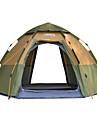 DesertFox® -8 אנשים Automatic Tent חיצוני קל משקל עמיד מוגן מגשם שכבה כפולה אוטומטי קמפינג אוהל >3000 mm ל חוף מחנאות / צעידות / טיולי מערות פיקניק טול בד אוקספורד 168*283*140 cm