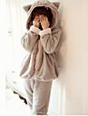 Adults\' Kigurumi Pajamas Bear Onesie Pajamas Coral Velve Gray / Pink Cosplay For Men and Women Animal Sleepwear Cartoon Festival / Holiday Costumes