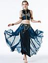 رقص شرقي أزياء نسائي التدريب / أداء بوليستر نموذج / طباعة / ruching في بدون كم ارتفاع منخفض تنانير / بلايز / حمالة صدر