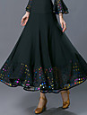 Ballroom Dance Bottoms Women\'s Training / Performance Polyester Pattern / Print / Ruching High Skirts