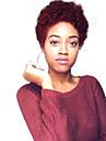 Perucas de cabelo capless do cabelo humano Cabelo Humano Afro Kinky / Jerry Enrolado Bob curto Design Moderno / Venda imperdivel / Confortavel Preta Curto Sem Touca Peruca Mulheres / Riscas Naturais