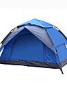 2 الأشخاص خيمة التخييم العائلية في الهواء الطلق ضد الهواء مكتشف الأمطار التنفس إمكانية طبقات مزدوجة قطب الماسورة خيمة التخييم 2000-3000 mm إلى Camping / Hiking / Caving السفر تنزه القماش ديمين