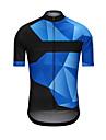 Ανδρικά Κοντομάνικο Φανέλα ποδηλασίας - Μπλε Ποδήλατο Αθλητική μπλούζα Μπολύζες Αθλητισμός Τερυλίνη Ρούχα / Υψηλή Ελαστικότητα