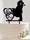 Tortadísz Esküvő Romantikus Egyéb Anyag Esküvő val vel Szív formájú / Tartós 1 pcs OPP