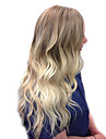 Human Hair Capless Wigs Human Hair Body Wave / Bouncy Curl Side Part Fashionable Design / New Design / Cool Multi-color Long Capless Wig Women\'s / Ombre Hair