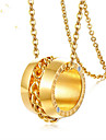 Women\'s Classic Pendant Necklace Stainless Steel Number Fashion Lovely Gold 45 cm Necklace Jewelry 1pc For Gift Daily