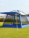 8 osob Kubbeli Çadır Outdoor Větruvzdorné Odolné vůči dešti dvouvrstvé Tyč Camping Tent 2000-3000 mm pro cestování Piknik Tkanina Oxford 300*300*215 cm