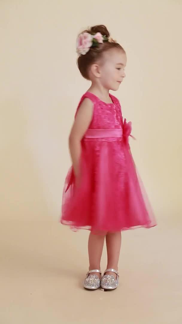 Princesa longitud de la rodilla vestido de niña de flores - de ...