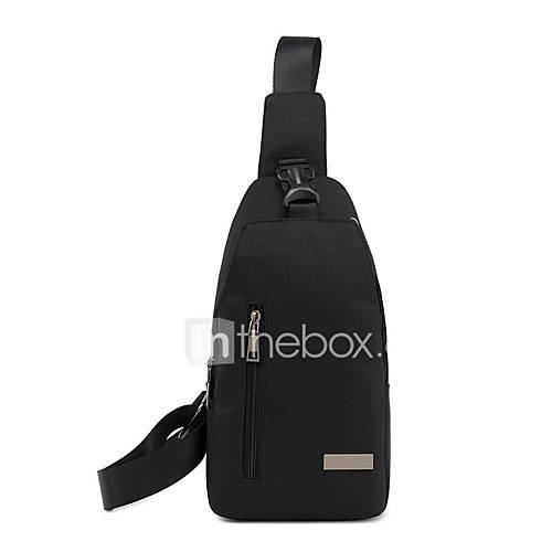 6ec958a6f6a Heren Tassen Kangas Sling Shoulder Bag Rits Zwart Grijs huismerk kopen in de  aanbieding