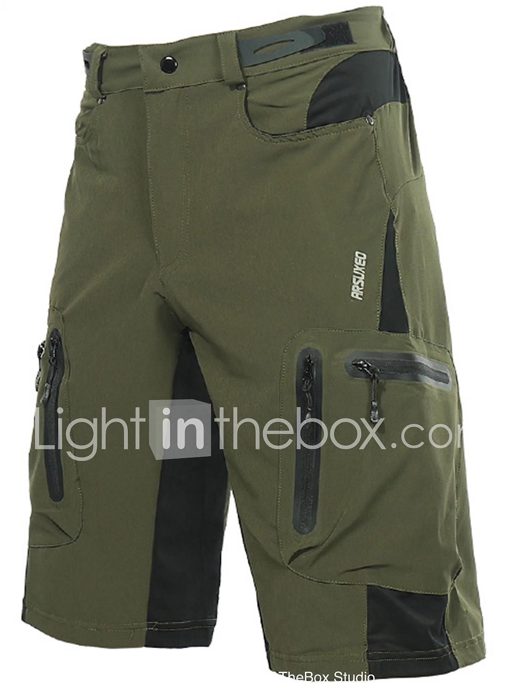 09b0cd708 Arsuxeo Men s Cycling MTB Shorts - Dark Gray Royal Blue Dark Green Solid  Color Bike Shorts